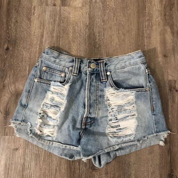MINKPINK Pants - MINKPINK XS Denim shorts